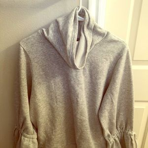 EXPRESS cowel neck sweater with bell sleeves